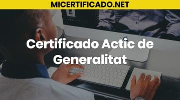 Certificado Actic de Generalitat