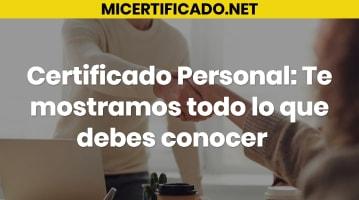 Certificado Personal