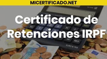 Certificado de Retenciones de IRPF