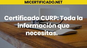 Certificado CURP