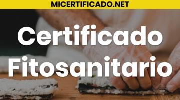 Certificado fitosanitario