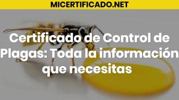 Certificado de Control de Plagas