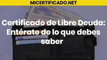 Certificado de Libre Deuda