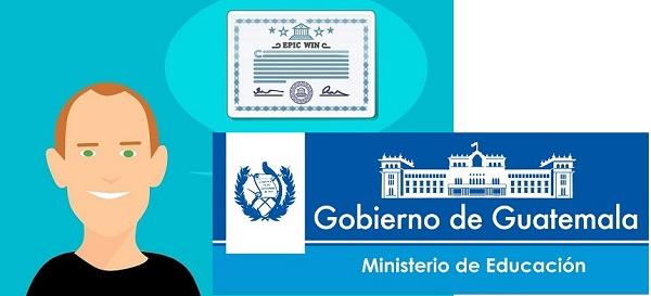 certificado de estudios guatemala ministerio de educacion