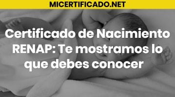 Certificado de Nacimiento RENAP