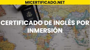 Cómo descargar el certificado inglés por inmersión por Internet