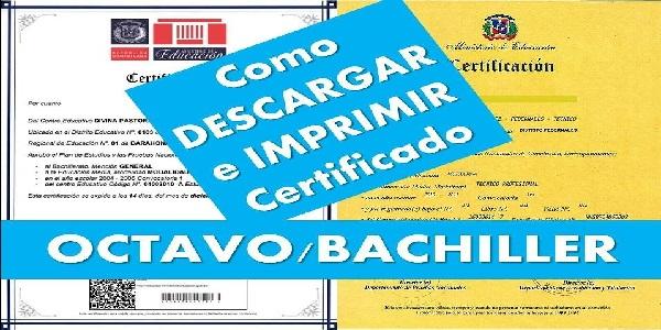 Como Descargar el Certificado de Octavo y Cuarto de Bachillerato ▷2021